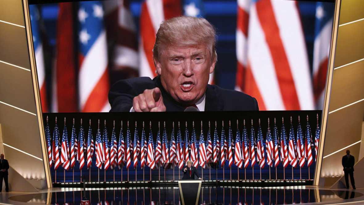 Trump cierra la convenci�n republicana con duras cr�ticas a Hillary Clinton