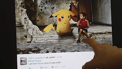 Pokemon para llamar la atención sobre la cruda realidad en Siria