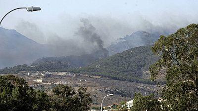 Un incendio arrasa el monte Gurugú en Marruecos