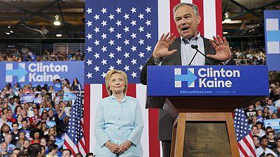 Kaine pronuncia en espa�ol sus primeras palabras como candidato a la vicepresidencia de EE.UU.