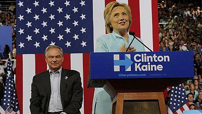 """Clinton presenta a Kaine como candidato a la vicepresidencia: """"Trump está peligrosamente equivocado"""""""