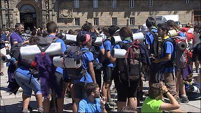 El número de peregrinos hacia Santiago no deja de aumentar