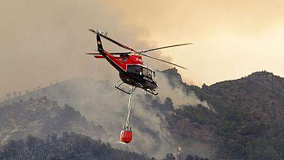 La Sierra de Espadán, en Castellón, amenazada por las llamas