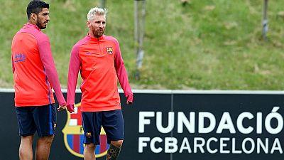 Messi se lleva todas las miradas en Saint George's Park