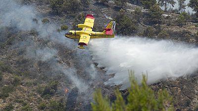 Continúa el avance del fuego en Castellón donde han ardido ya 1.000 hectáreas