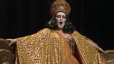 Segundo acto de 'Julio C�sar', con Montserrat Caball� y Justino D�az