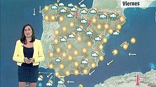 El Tiempo - Altas temperaturas en el interior y nubes y lluvias en el Cantábrico