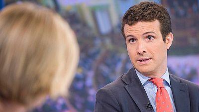 """Pablo Casado: """"El PP y su candidato no plantean otra alternativa que ser investido"""""""