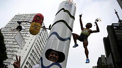 La antorcha ol�mpica es la gran estrella en Brasil