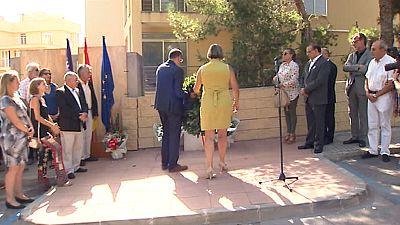 Homenaje a las víctimas del último atentado mortal de ETA