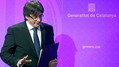 Puigdemont advierte a la CUP del riesgo de un adelanto electoral