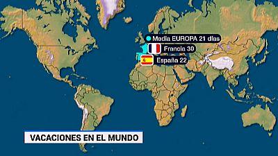 España es uno de los países donde tenemos por ley más vacaciones frente a países como Estados Unidos o los países asiáticos