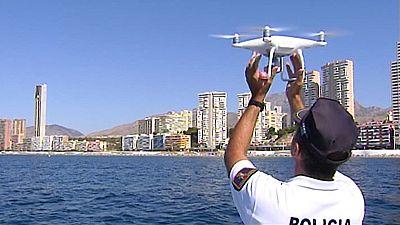 El dron vigilante de la playa