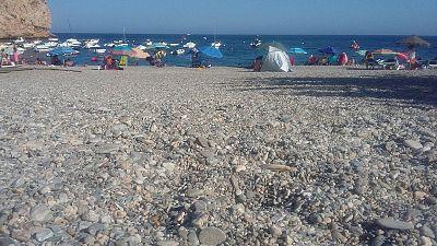 Un d�a en la playa de Calahonda