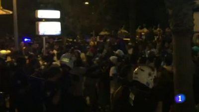 Altercado entre 'manteros' y policía en Palma de Mallorca