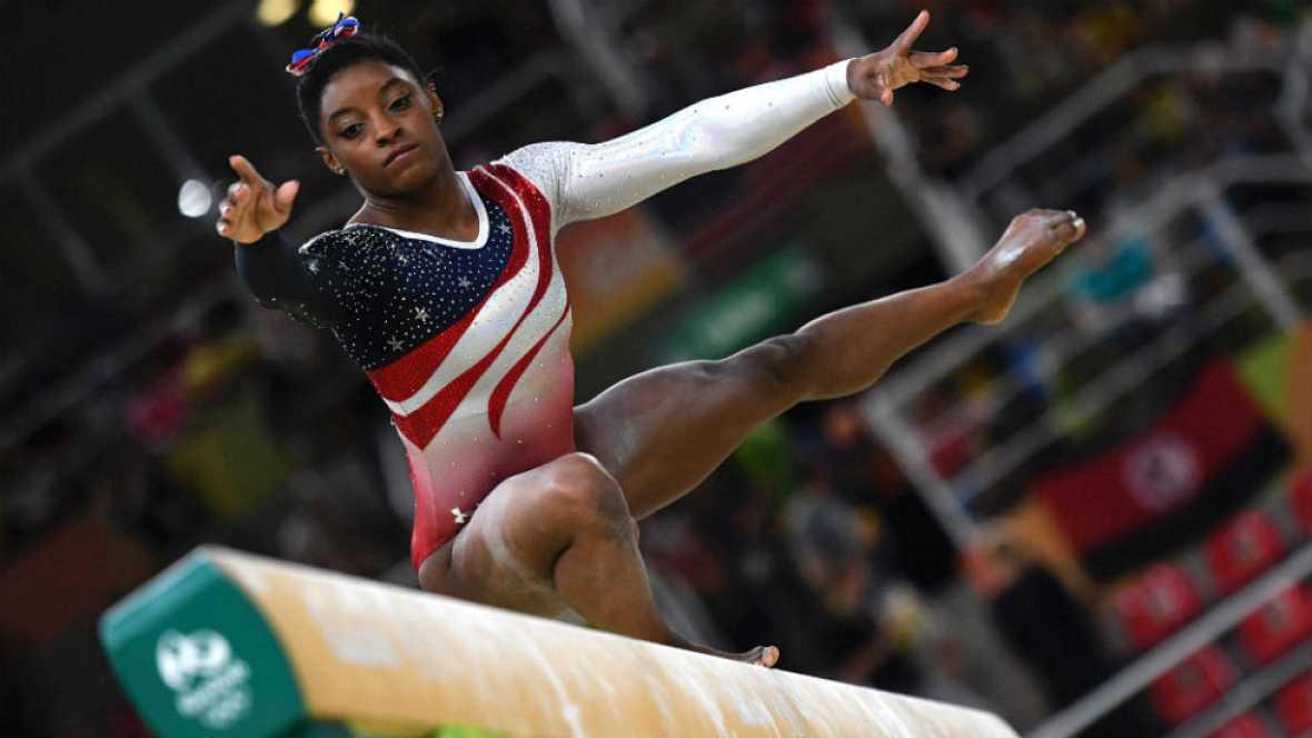 Río 2016. Gimnasia artística | Simone Biles en el ejercicio de barra