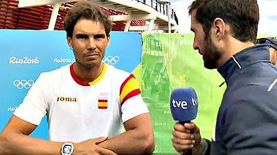 El tenista español Rafa Nadal ha avanzado a cuartos de final del  torneo olímpico en los Juegos de Río tras solventar este jueves su  partido ante el francés Gilles Simon (7-6(5), 6-3), y se enfrentará  al brasileño Thomaz Bellucci para entrar en la