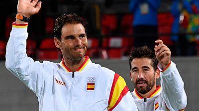 Nadal y López recogen su merecida medalla de oro en dobles