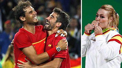 Nadal, López y Lidia Valentín se felicitan por sus medallas en TVE