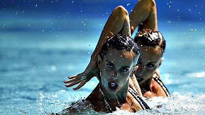Las españolas Ona Carbonell y Gemma Mengual accedieron a la final del dúo libre, que se disputará mañana en el centro acuático María Lenk, con el quinto mejor registro tras haber agregado los 92.5024 puntos del técnico de este lunes a los 93.7667 que