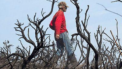 La situación de los incendios en Galicia ha mejorado bastante y a esta hora no hay ninguno fuera de control