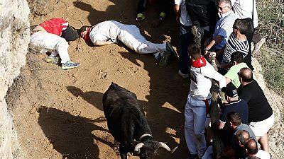 Una mujer fallece tras precipitarse por un barranco en los 'Encierros del Pilón' de Falces, en Navarra