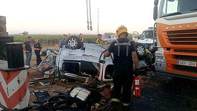 Dos fallecidos y 39 heridos en un accidente múltiple en la A-4 en Ciudad Real