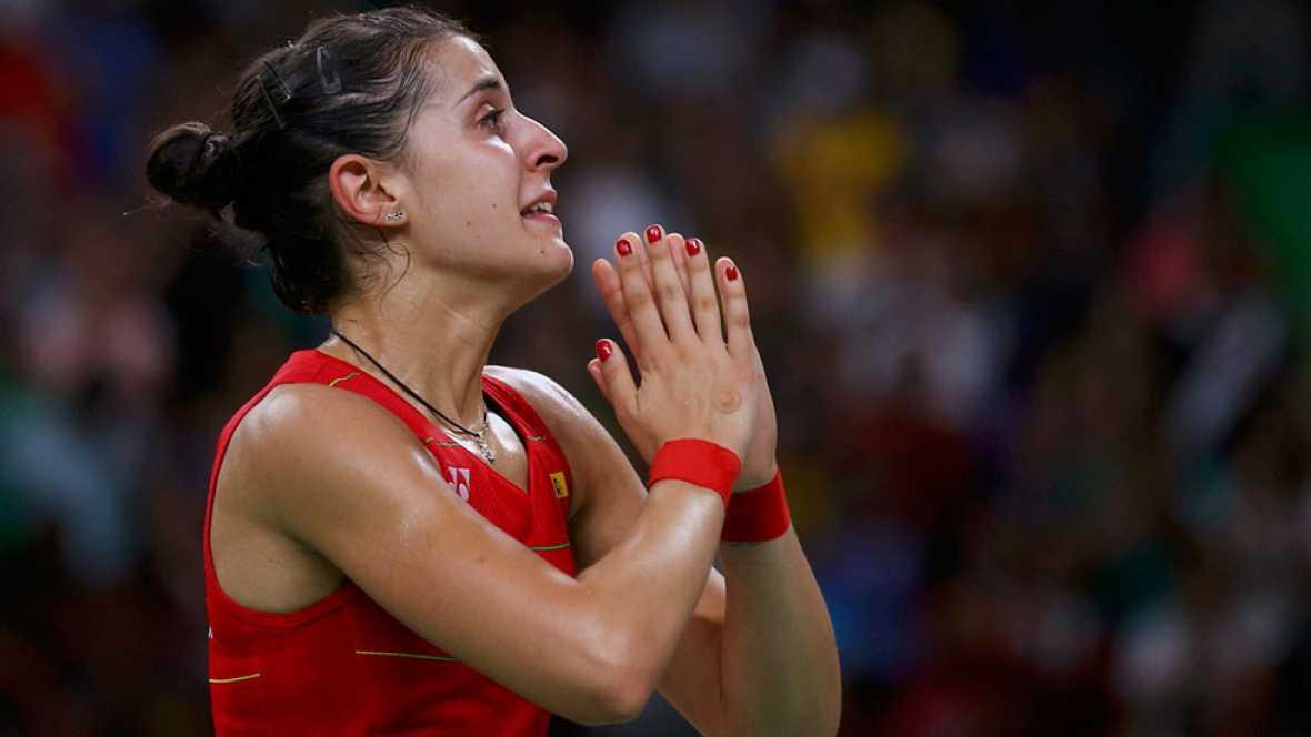 """Carolina Marín ha asegurado al terminar el partido que la final ha sido """"muy bonita y muy ajustada."""