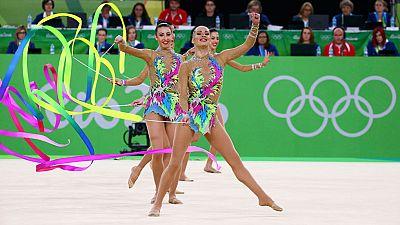 Río 2016. Gimnasia rítmica | El equipo español logra una puntuación de 17.800 puntos en cinta