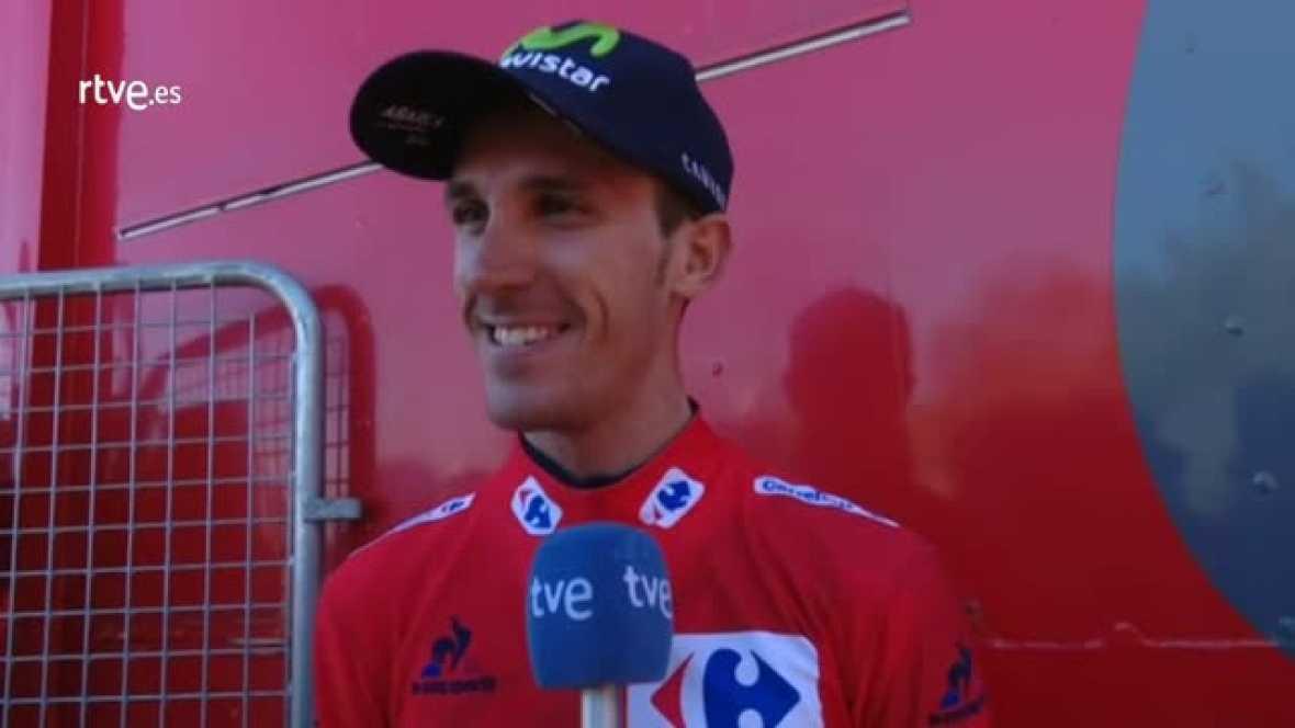 El joven murciano del Movistar tiró muy fuerte en los 1,8 kilómetros de la subida al Mirador, tanto que no solo rompió al grupo sino que descolgó a sus jefes Alejandro Valverde y Nairo Quintana y es el nuevo maillot rojo de la competición.