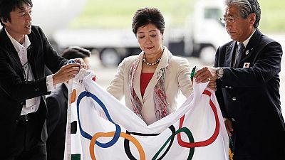 La bandera ol�mpica llega a Tokio