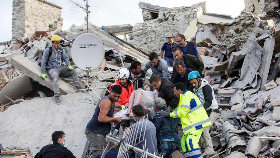 Un potente terremoto de magnitud 6 deja al menos 38 muertos en el centro de Italia