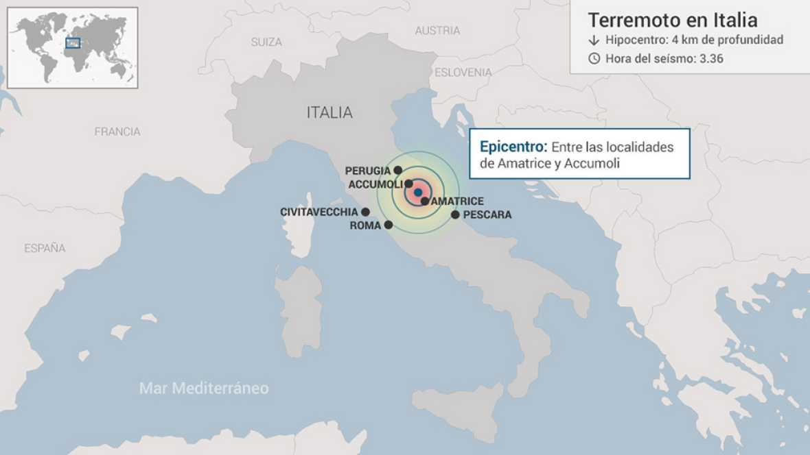 Italia  sufre la presión de tres placas tectónicas que empujan en direcciones opuestas