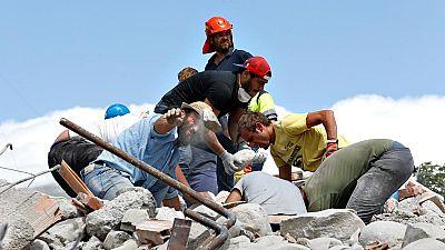 Los supervivientes del terremoto de Italia, conmocionados por la tragedia