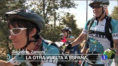 A pedaladas con el proyecto Discamino y la Vuelta Ciclista