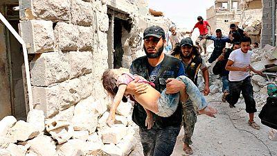 Los bombardeos contra la población civil continúan en Alepo