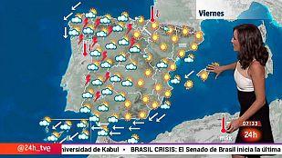 Nubes y chubascos en la mitad occidental y lluvias en el norte de Canarias