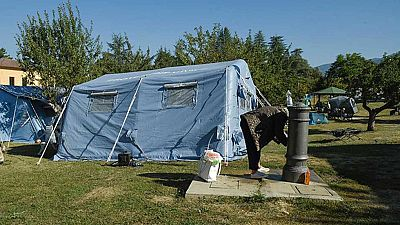 Más de 2.000 personas pernoctan en los campamentos instalados tras el seísmo en Italia