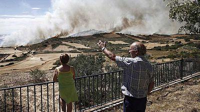 El incendio de Tafalla (Navarra) ya ha calcinado 3.000 hectáreas de terreno