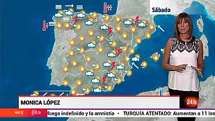 Aumento de las temperaturas en el Cantábrico y viento fuerte en el Estrecho