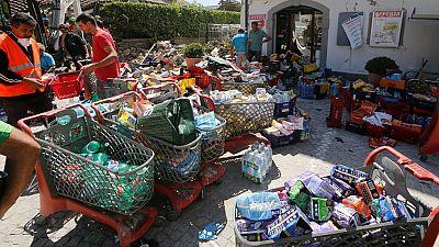 Italia pide que no se manden más alimentos y ropa para las víctimas ante la saturación