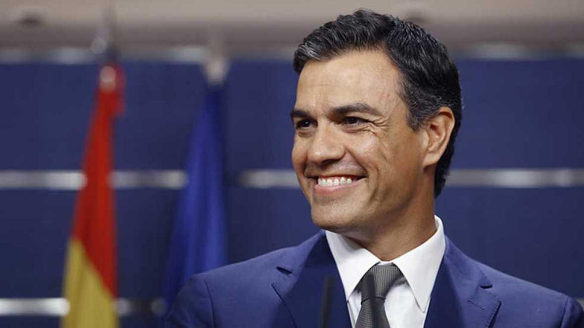 """S�nchez mantiene el 'no' y dice que """"solo"""" la """"incapacidad"""" de Rajoy es la responsable de la investidura fallida"""