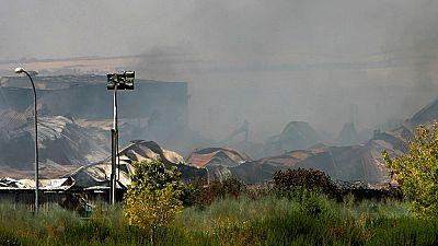 La contaminación provocada por el incendio en la planta de reciclaje de Chiloeches no ha llegado al río Henares
