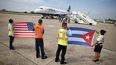 Aterriza en Cuba el primer vuelo regular procedente de EE.UU. en más de medio siglo
