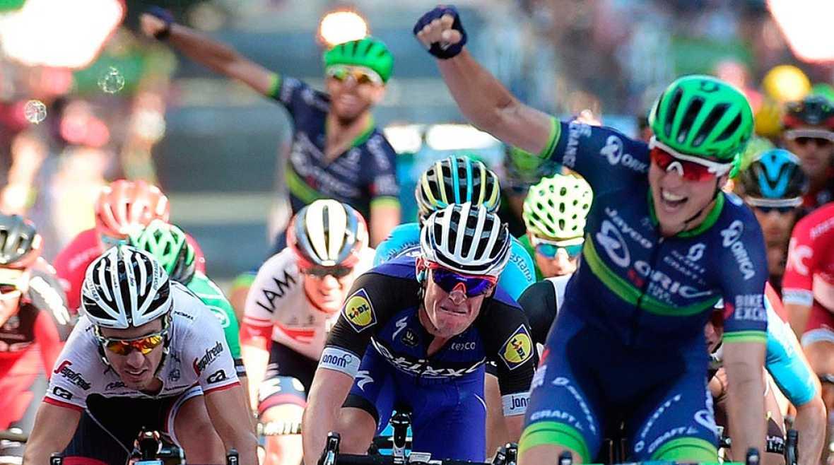 Keukeleire se lleva la etapa en Bilbao y Quintana aguanta como líder