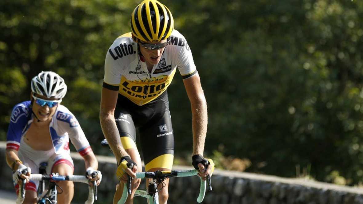 Robert Gesink gana en una espectacular etapa reina