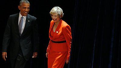 Theresa May y Obama se reúnen durante el G20 para hablar del Brexit