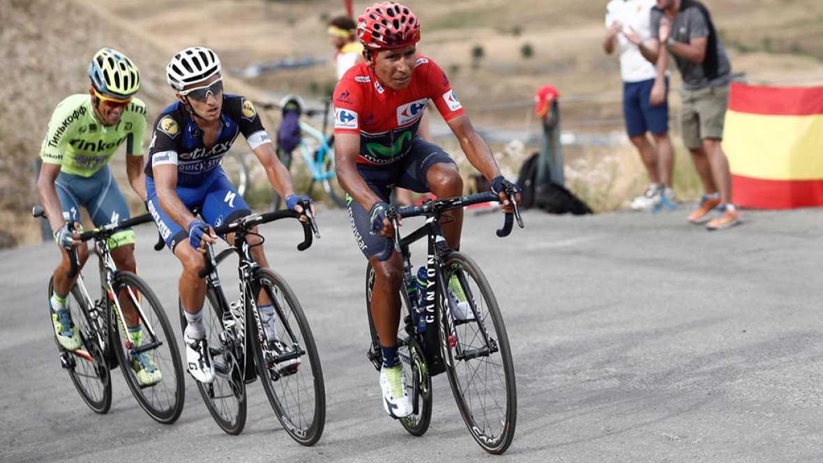 Quintana da un golpe crucial a la Vuelta tras un ataque de Contador
