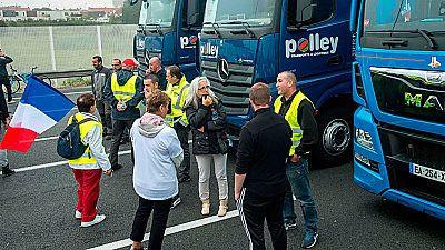 Protesta de los habitantes de Calais para reclamar que se desmantele el campamento de inmigrantes