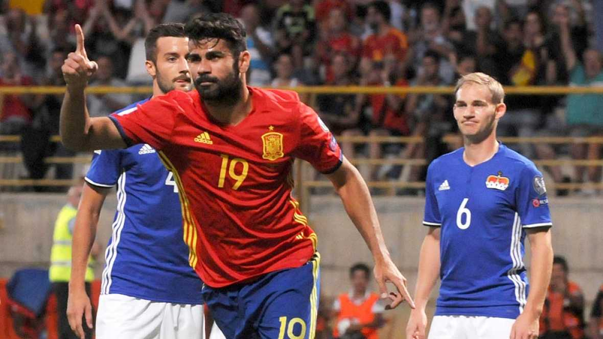 España vence 8-0 a Liechtenstein y se pone en cabeza del grupo